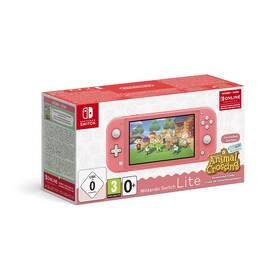 Herná konzola Nintendo Switch Lite + Animal Crossing: New Horizons + Nintendo SWITCH online předplatné na 3 měsíce (NSH125) ružová