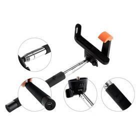 Selfie tyč GoGEN 2 teleskopická, bluetooth (GOGBTSELFIE2B) čierna