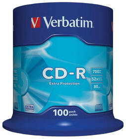 Disk Verbatim Extra Protection CD-R DL 700MB/80min, 52x, 100-cake (43411)