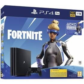 Herná konzola Sony PlayStation 4 Pro 1 TB + Fortnite balíček 2000 V Bucks (PS719941101) čierna