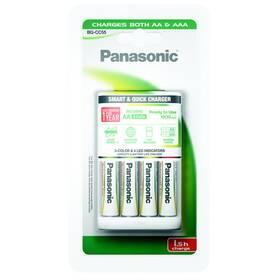 Nabíjačka Panasonic BQ-CC55 Smart Quick pro AA,AAA + 4x AA, 1900 mAh (K-KJ55MGD40E)