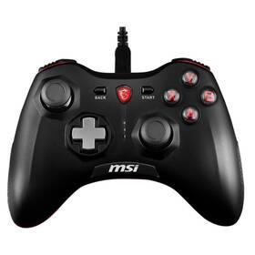 Gamepad MSI Force GC20, drátový, pro PC, PS3, Android (S10-0400010-EC4) čierny