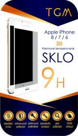 Tvrdené sklo TGM 3D na Apple iPhone 6/7/8 (TGM3DAPIP7/8WH) biele