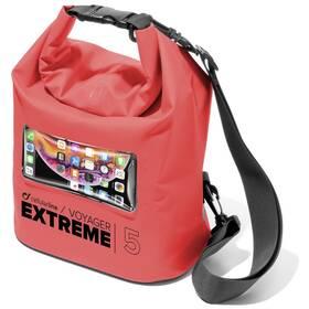 Púzdro na mobil športové CellularLine Voyager Extreme, vodotěsné (VOYAGEREXPL195LR) červené