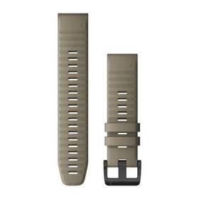 Remienok Garmin QuickFit 22 pro fenix6/fenix5, silikonový, béžový, černá přezka (010-12863-02)