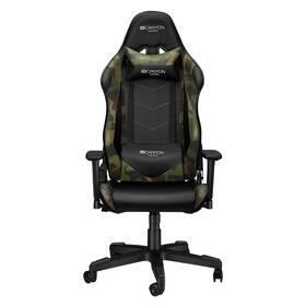 Herná stolička Canyon Argama (CND-SGCH4AO) čierna/zelená