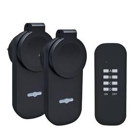 Diaľkovo ovládané zásuvky Solight venkovní, 2 zásuvky, 1 ovladač (DY12)