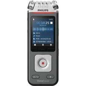 Diktafón Philips DVT6110 čierny/strieborný