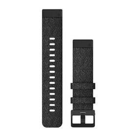 Remienok Garmin QuickFit 20mm pro Fenix5S/6S, nylonový, černý, černá přezka (010-12875-00)