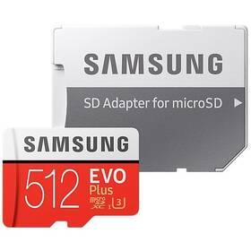 Pamäťová karta Samsung Micro SDXC EVO+ 512GB Class 10 UHS-3 (R100/W90) + SD adaptér (MB-MC512HA/EU)