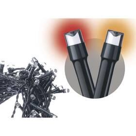 Vianočné osvetlenie EMOS 120 LED řetěz pulzující, 12m, IP44, jantarová/červená, čas. (1534190800)