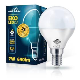 LED žiarovka ETA EKO LEDka mini globe 7W, E14, teplá biela (P45W7WW)