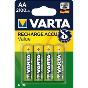 Batéria nabíjacie Varta Value, HR06, AA, 2100mAh, Ni-MH, blistr 4ks (56616101404)