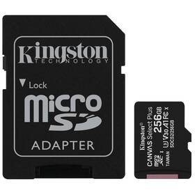 Pamäťová karta Kingston Canvas Select Plus MicroSDXC 256GB UHS-I U1 (100R/85W) + adapter (SDCS2/256GB)