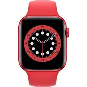 Inteligentné hodinky Apple Watch Series 6 GPS 44mm púzdro z hliníka PRODUCT(RED) - PRODUCT(RED) športový náramok (M00M3VR/A)