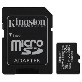 Pamäťová karta Kingston Canvas Select Plus MicroSDHC 32GB UHS-I U1 (100R/10W) + adapter (SDCS2/32GB)