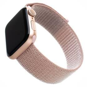 Remienok FIXED Nylon Strap na Apple Watch 38 mm/40 mm - růžově zlatý (FIXNST-436-ROGD)