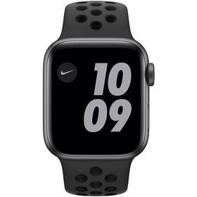 Inteligentné hodinky Apple Watch Nike SE GPS 44mm púzdro z vesmírne sivého hliníka - antracitový/čierny športový náramok Nike (MYYK2VR/A)