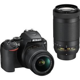 Digitálny fotoaparát Nikon D3500 + 18-55 AF-P VR + 70-300 AF-P VR (VBA550K005) čierny