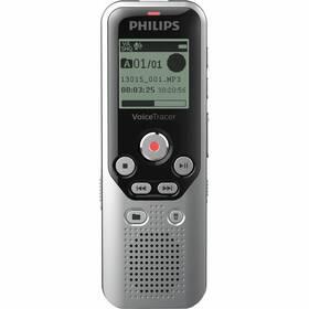 Diktafón Philips DVT1250 čierny/strieborný
