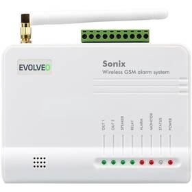 Alarm Evolveo Sonix, bezdrátový, GSM (ALM301) biele
