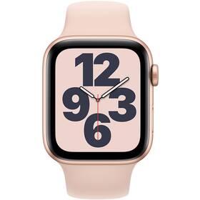 Inteligentné hodinky Apple Watch SE GPS 44mm púzdro zo zlatého hliníka - pieskovo ružový športový náramok (MYDR2VR/A)