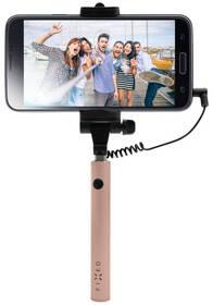 Selfie tyč FIXED Snap Mini - růžová/zlatá (FIXSS-SNM-RG) ružová/zlatá