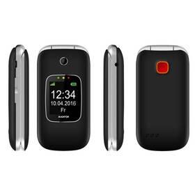 Mobilný telefón Aligator V650 Senior (AV650BS) čierny/strieborný