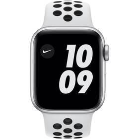 Inteligentné hodinky Apple Watch Nike SE GPS 44mm púzdro zo strieborného hliníka - platinový/čierny športový náramok Nike (MYYH2VR/A)