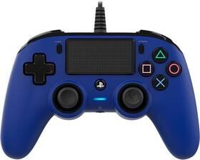 Gamepad Nacon Wired Compact Controller pro PS4 (ps4hwnaconwccblue) modrý