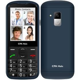 Mobilný telefón CPA Halo 18 Senior s nabíjecím stojánkem (TELMY1018BL) modrý