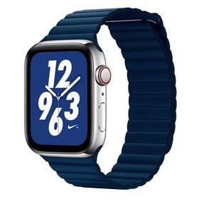 Remienok COTEetCI Loop Band na Apple Watch 42/44mm, kožený, magnetický (WH5206-DB) modrý