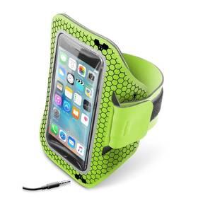 """Puzdro na mobil športové CellularLine Armband running, 5,2"""" (ARMBANDRUN52L) zelené"""