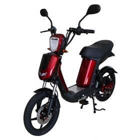 Elektrická motorka RACCEWAY E-Babeta E-BABETA, vínový-metalíza vínová farba