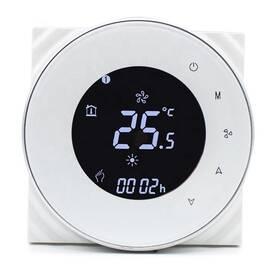 Termostat iQtech SmartLife GALW-W, WiFi termostat pro kotle s potenciálovým spínáním (IQTGALW-W) biely