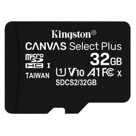 Pamäťová karta Kingston Canvas Select Plus MicroSDHC 32GB UHS-I U1 (100R/10W) (SDCS2/32GBSP)