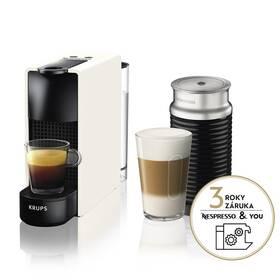 Espresso Krups Nespresso Essenza mini XN111110 & Aeroccino 3 biele