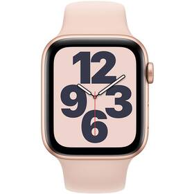 Inteligentné hodinky Apple Watch SE GPS 40mm púzdro zo zlatého hliníka - pieskovo ružový športový náramok (MYDN2VR/A)
