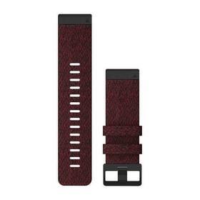 Remienok Garmin QuickFit 26mm pro Fenix5X/6X, nylonový, červený, černá přezka (010-12864-06)