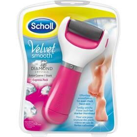Elektrický pilník na chodidlá Scholl Velvet Smooth Diamond Extra hrubý ružová