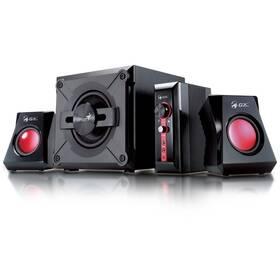 Reproduktory Genius GX Gaming SW-G 2.1 1250, Verze II. (31730019400) čierne/červené