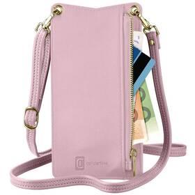 Puzdro na mobil CellularLine Mini Bag na krk (MINIBAGP) ružové