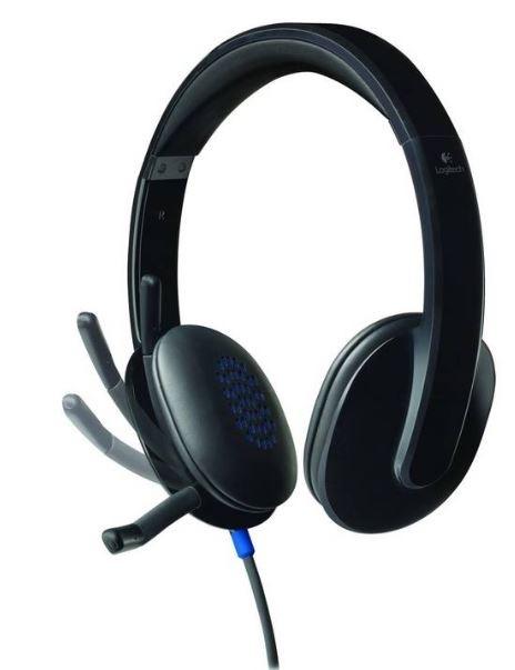 Logitech USB H540A, čierna