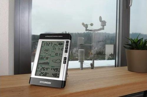 Meteorologická stanice Hyundai WSP 3080 R WIND černá